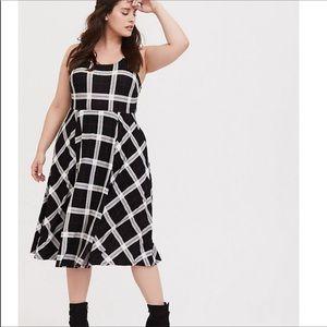 Women's Torrid Plaid Ponte Midi Dress